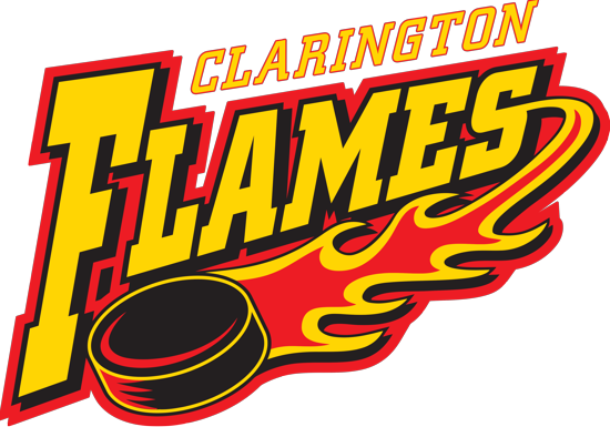 Logo for Clarington Flames Girls Hockey Association